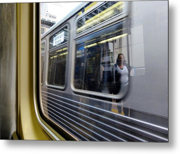 Passing Trains Metal Print