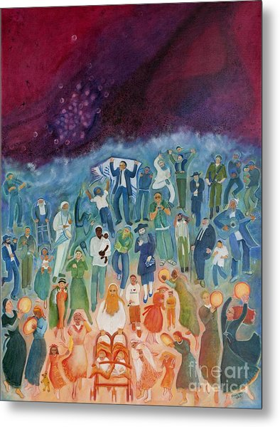 Passover Not Only Our Fathers Metal Print by Chana Helen Rosenberg