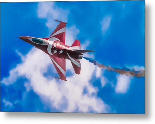 Pastel F-16 Metal Print