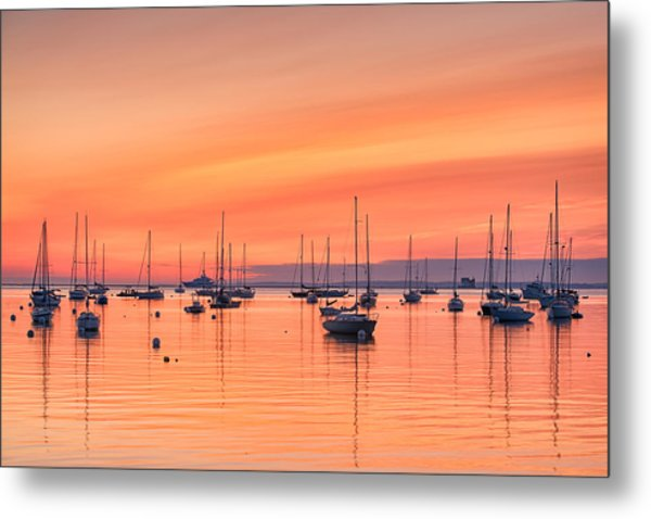 Pastel Harbor Metal Print