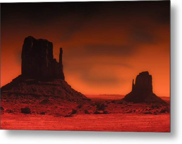 Pastel Monument Valley Metal Print by Gary Cain