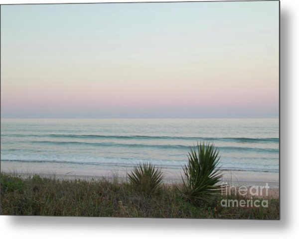 Pastel Moonrise Metal Print