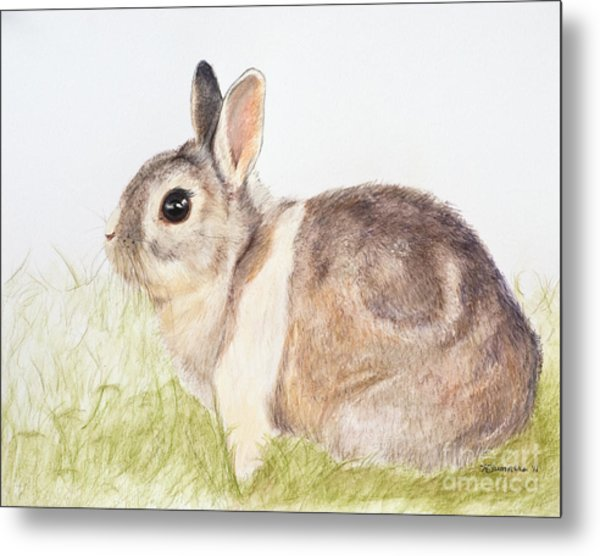 Pastel Pet Rabbit Metal Print