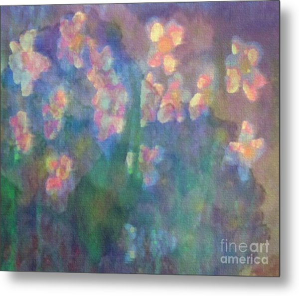 Pastel Petals Metal Print