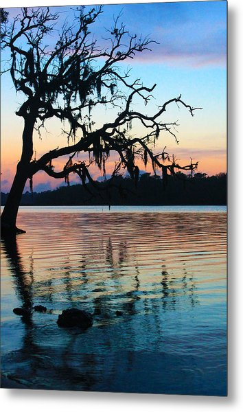 Pastel Reflections Metal Print