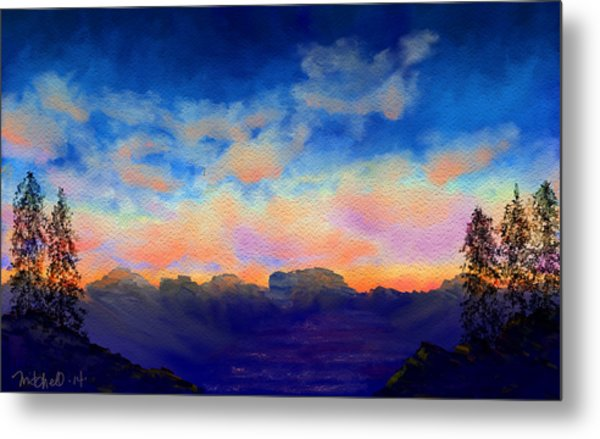Pastel Sky Metal Print by Kerry Mitchell