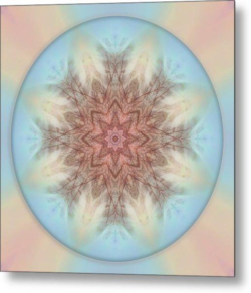 Pastel Sky Mandala Metal Print