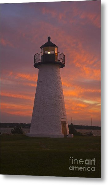 Pastel Sunset At Ned'spoint Metal Print