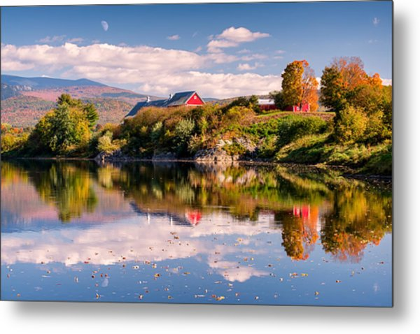 Pastoral Reflection Metal Print