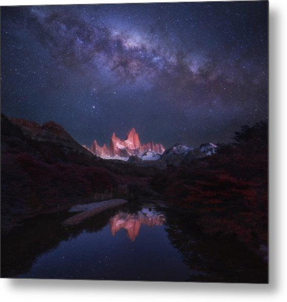 Patagonia Autumn Night Metal Print by Yan Zhang