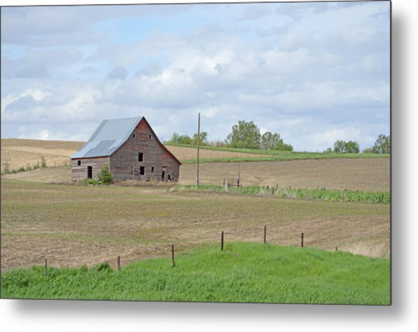 Patched Roof Metal Print