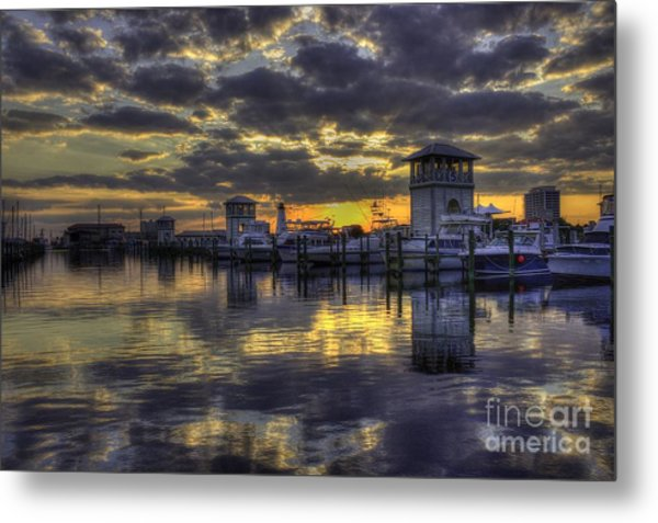 Patches In The Harbor Metal Print
