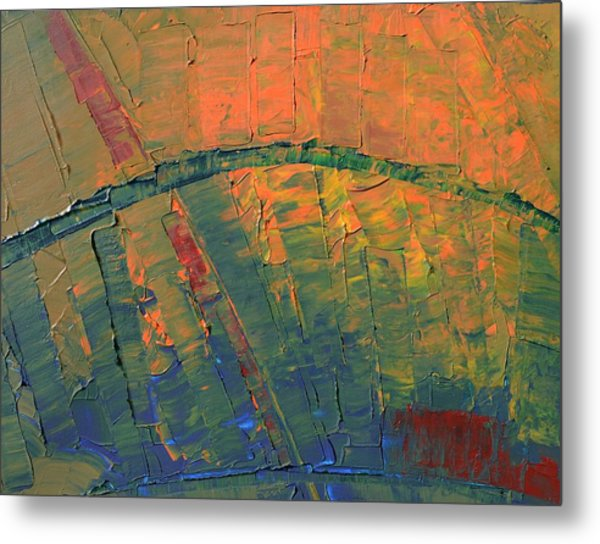 Patches Of Red Metal Print
