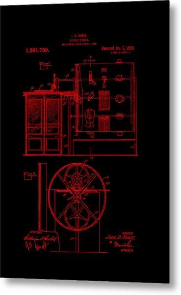 Patent Art 1920 Closet Display Red Metal Print