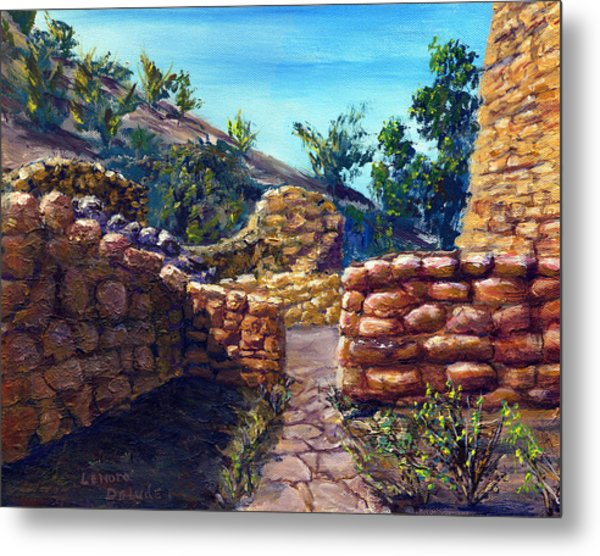 Path At Old Mission Metal Print