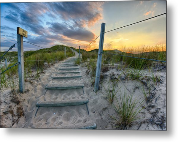 Path Over The Dunes Metal Print