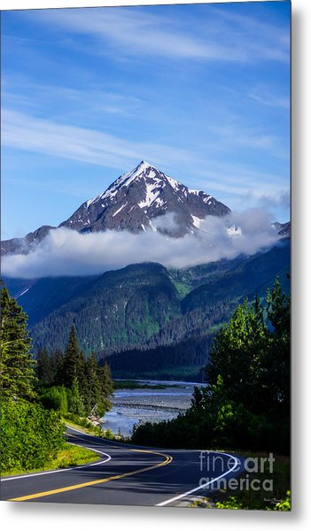 Path Through Alaska Metal Print