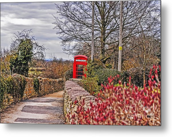 Path Through The Cotswolds Metal Print