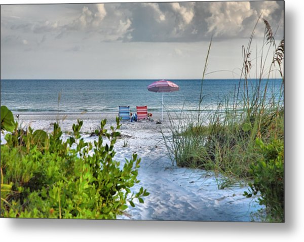 Path To The Beach II Metal Print