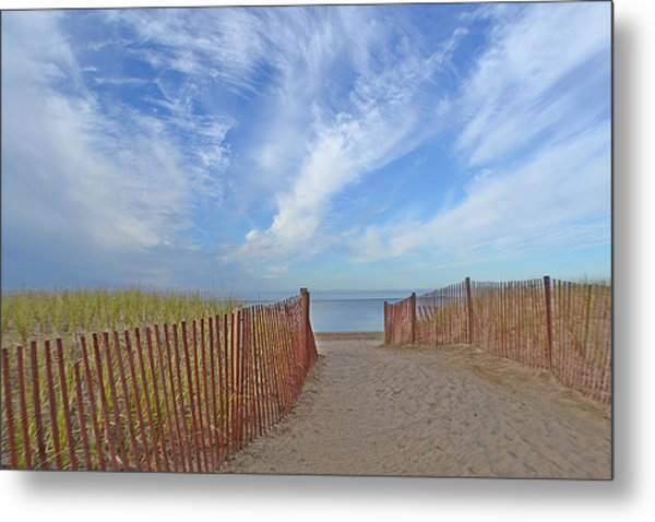 Path To The Beach Metal Print by Marjorie Tietjen