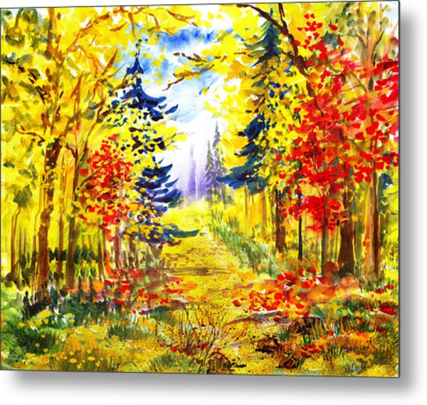 Path To The Fall Metal Print
