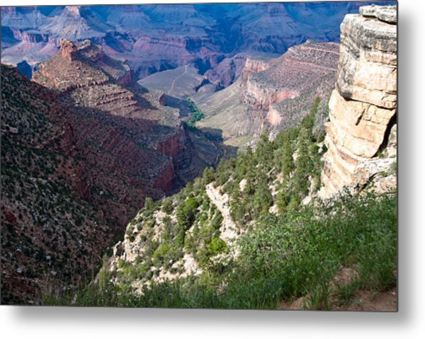 Pathway In Canyon Metal Print by Nickaleen Neff