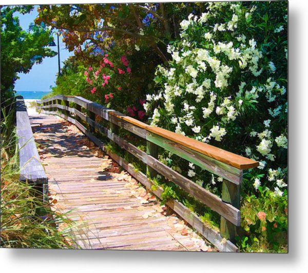 Pathway To Beach Metal Print