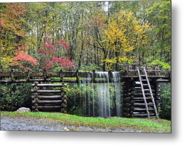 Pathway To The Mill Metal Print by Mary Anne Baker