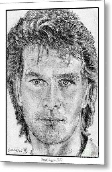 Patrick Swayze In 1989 Metal Print