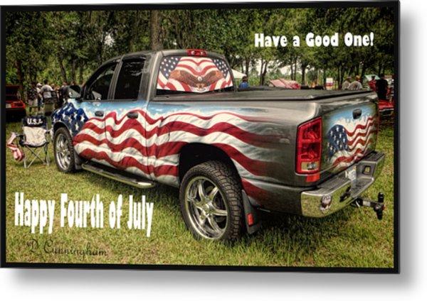 Patriotic Truck Metal Print
