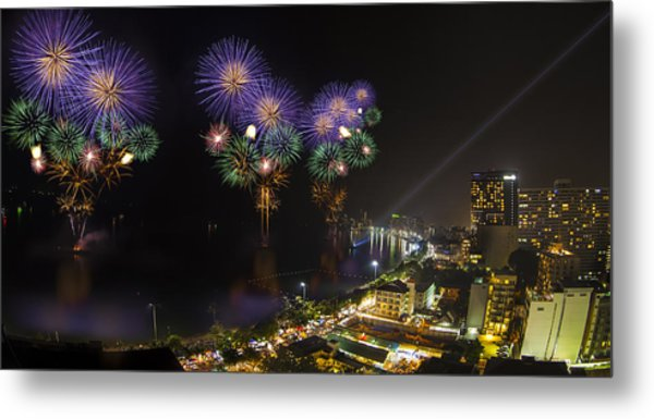 Pattaya Fire Work 2012 Festival Metal Print
