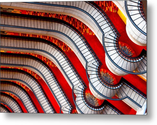 Patterns In Red Metal Print