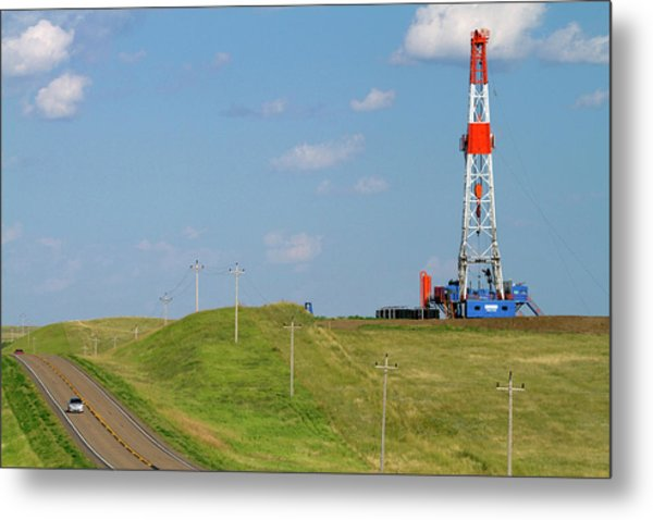Patterson Uti Oil Drilling Rig Metal Print