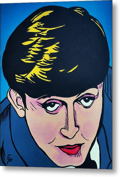 Paul Mccartney  Cartoon Metal Print