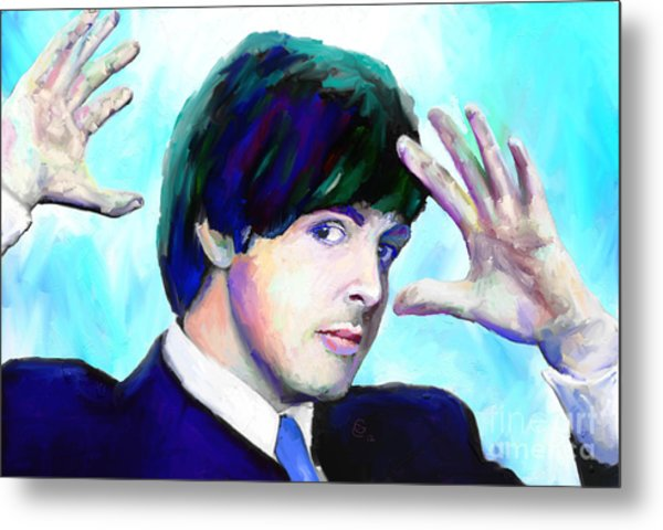 Paul Mccartney Of The Beatles Metal Print by G Cannon