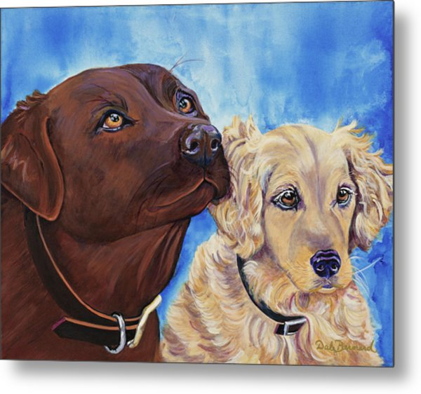 Pawsitively Friends Metal Print