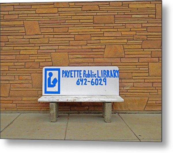 Payette Library Bench Metal Print