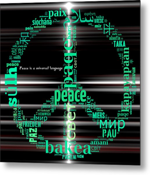 Peace Across The Universe Metal Print