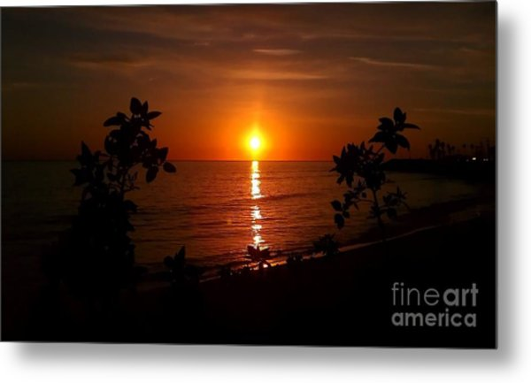 Peace At The Beach Metal Print