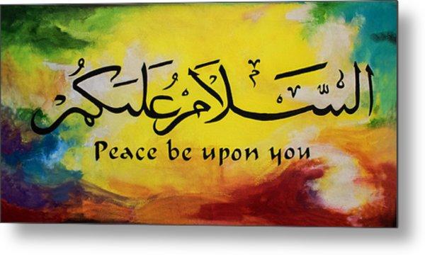 Peace Be Upon You Metal Print by Salwa  Najm