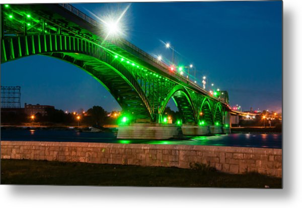 Peace Bridge From The Walking Path Metal Print