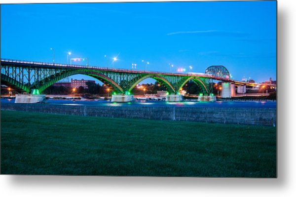 Peace Bridge Looking East Metal Print