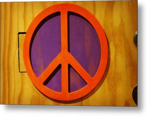 Peace Decal Metal Print