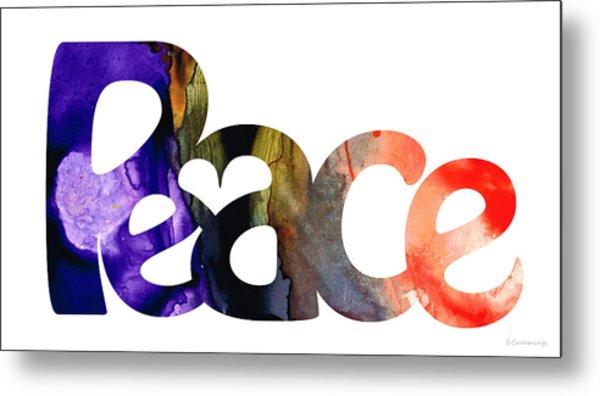 Peace Full 1 By Sharon Cummings Metal Print