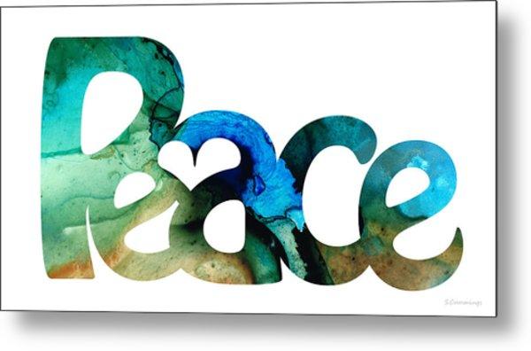 Peace Full 13 Metal Print