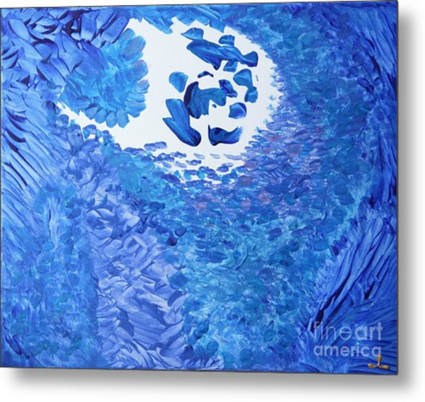 Metal Print featuring the painting Peace by Ilona Svetluska