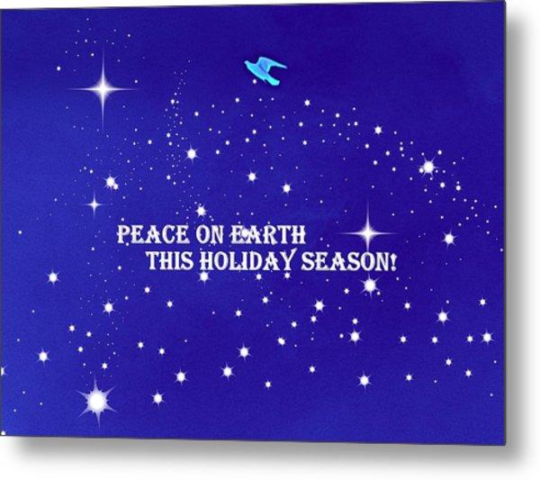 Peace On Earth Card Metal Print