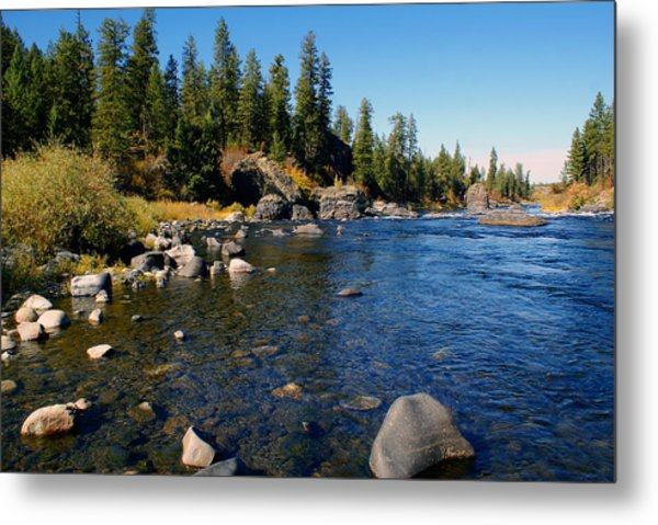 Peace On The Spokane River 2 Metal Print