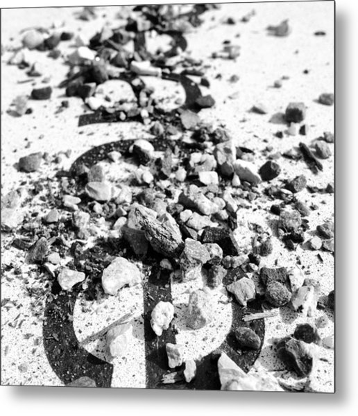 Peace Under The Rubble Metal Print