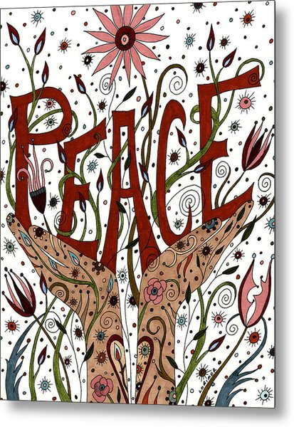 Peace Metal Print by Valerie Lorimer